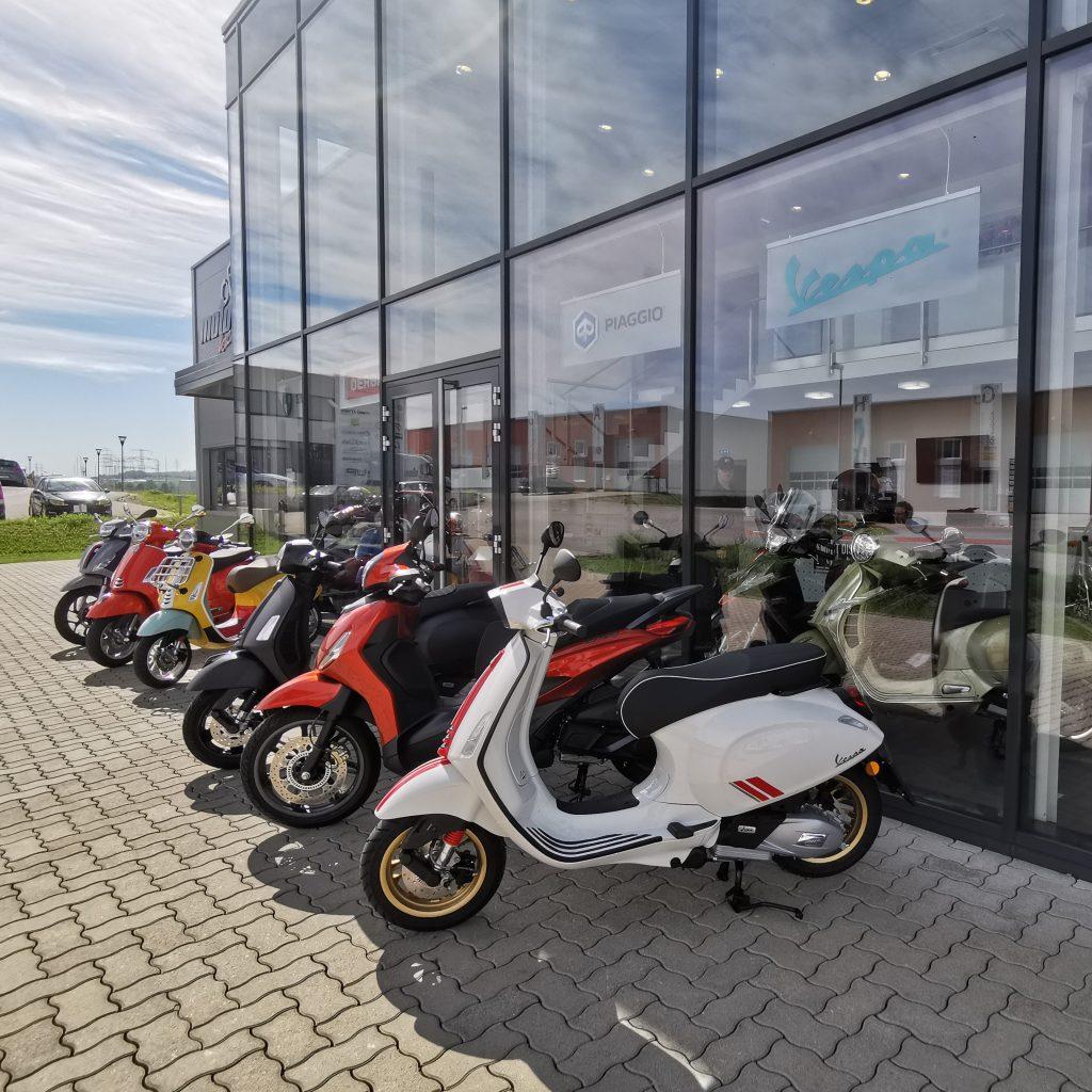 Vespa Piaggio Derbi Neufahrzeuge Motorrad Roller Moped Händler in 2100 Stetten bei Korneuburg Motofactory