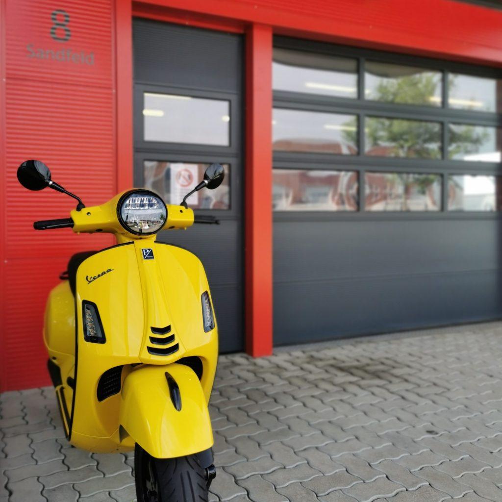 So kommen Sie zur Motofactory die Motorradwerkstatt in Stetten bei Korneuburg Vespa Puch Piaggio Derbi